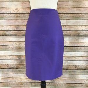 J. Crew Skirts - J.CREW Solid Purple No. 2 Pencil Skirt